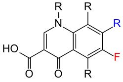Chinolony formel